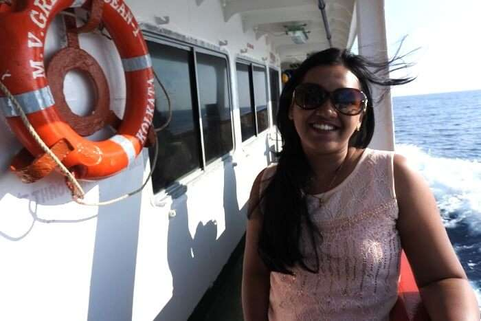 solo traveler on a cruise in Andaman