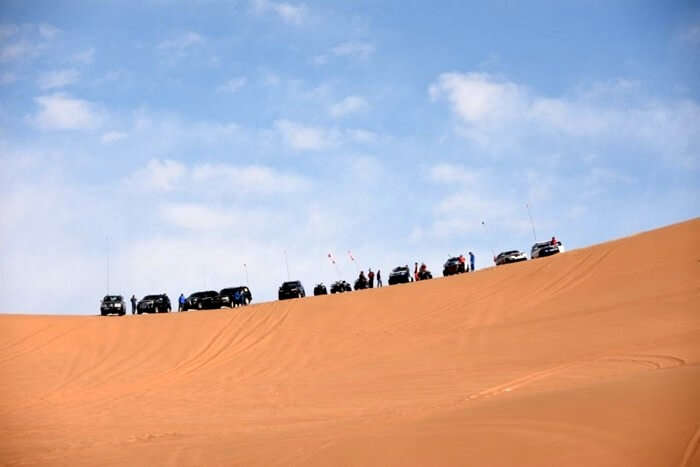 wide view of tengger desert