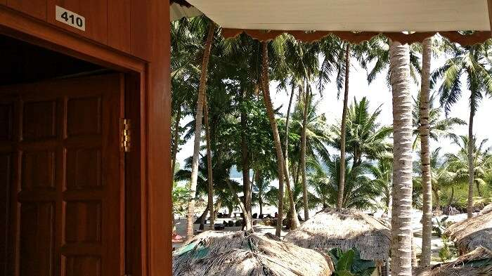 room with private beach access in Andaman