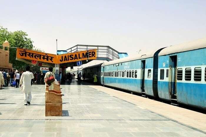 arriving in jaisalmer