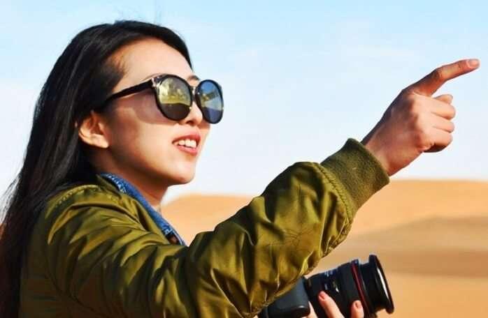 woman traveler in mongolia