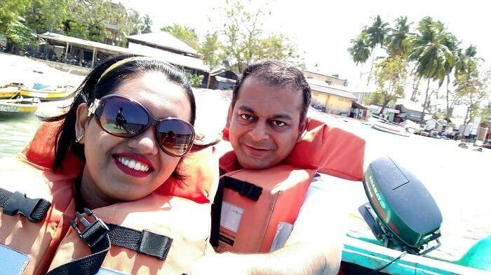 glass-bottom boat ride in Andaman