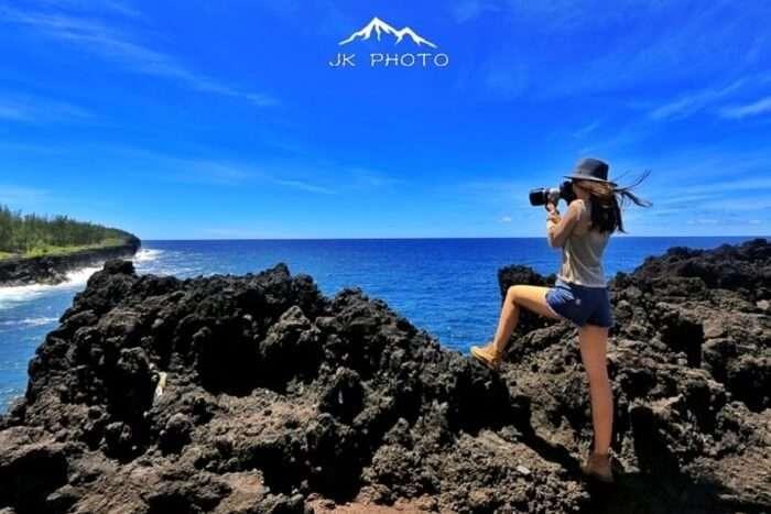 solo female traveler in Reunion Island, France