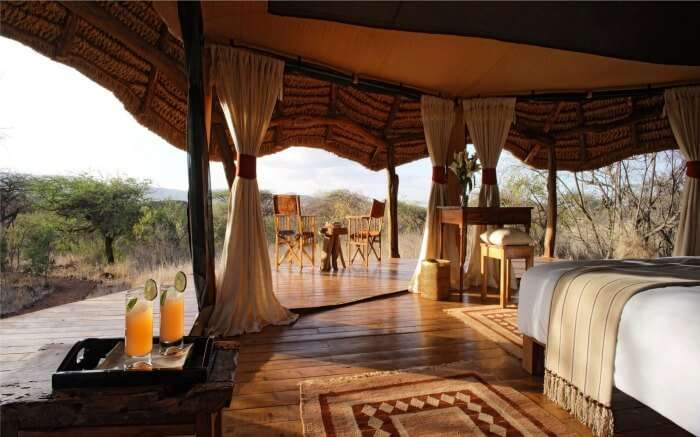 A view of safari honeymoon resort in Kenya