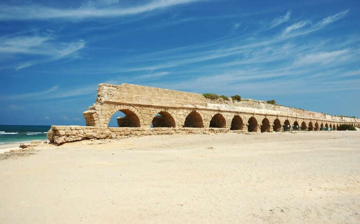 Aqueduct Beach in Israel