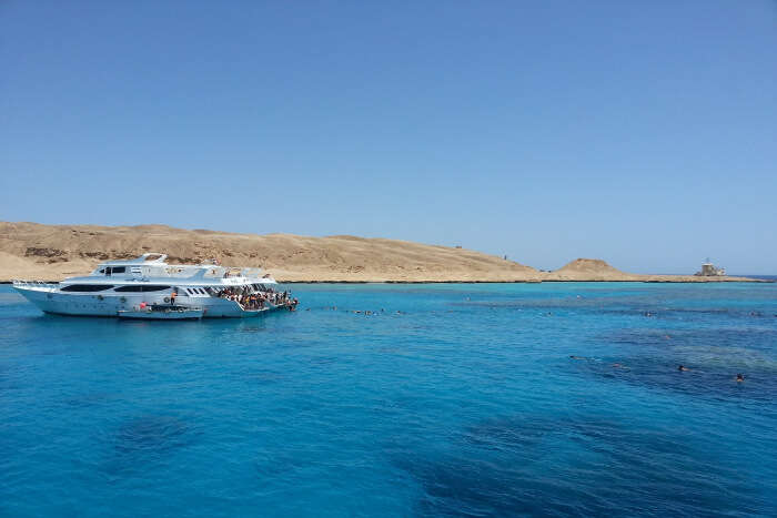 Cruise through the crystal clear waters