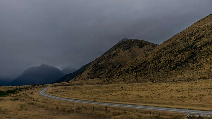 scenic route on the wat from christchurch to greymouth