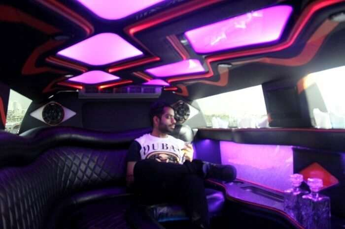 Limo ride in Dubai
