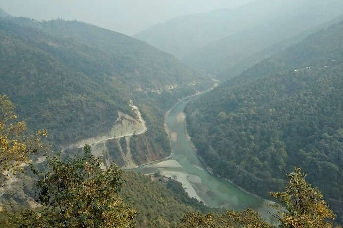 river flowing through sikkim