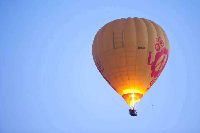 Flying over Marrakech in a Hot Air Balloon