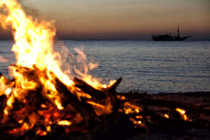 Freeport Bonfire on the Taino Beach