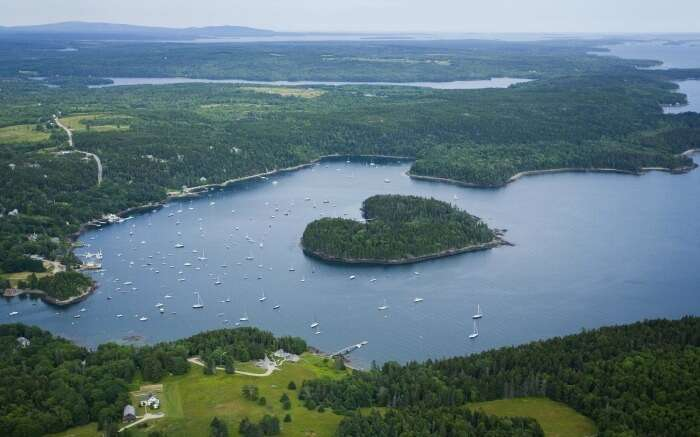 Harbor Island in Maine USA