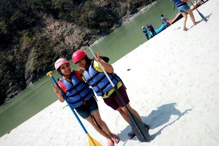 clicking a picture before rafting