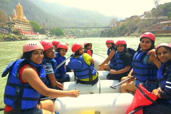 reaching the end point of rafting