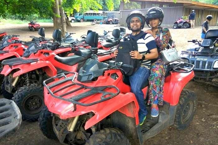 quad biking at casela national park