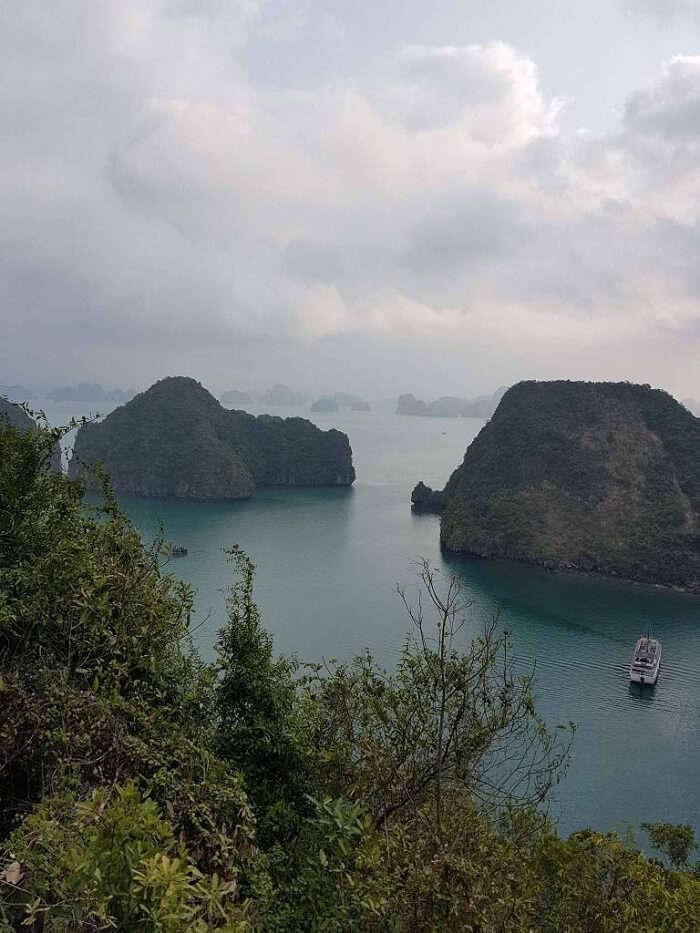 views of the halong bay