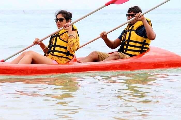 canoeing in mauritius