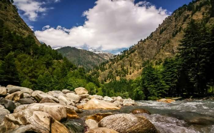 Landscape of Parvati Valley