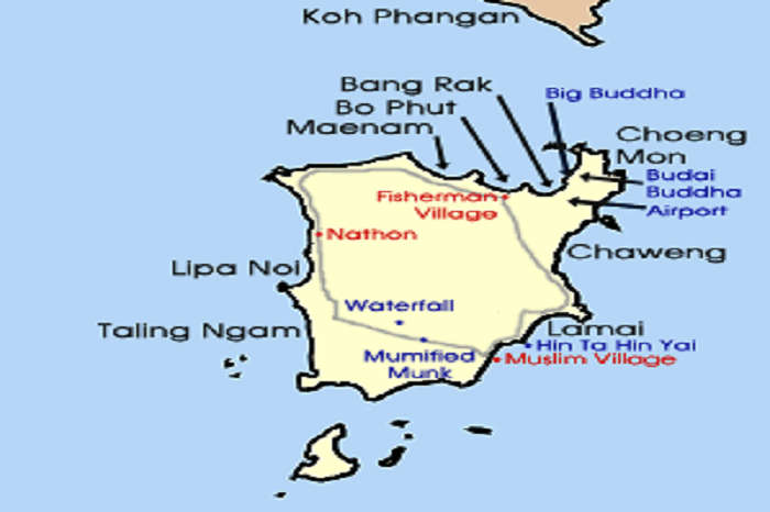 Location of Koh Samui