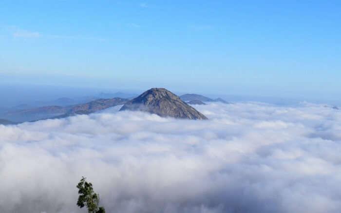 Nandi hills submerged in cloud
