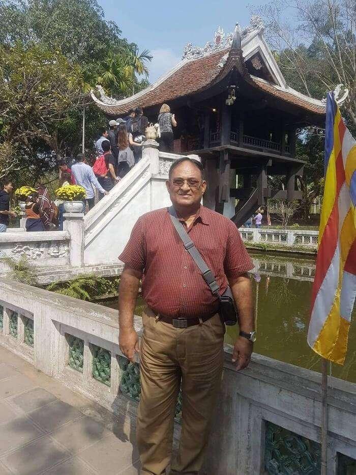 single pillar pagoda