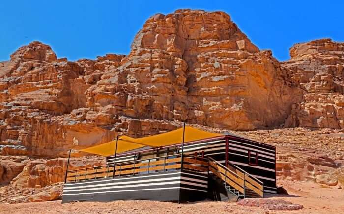 Sun city camp in Wadi Rum