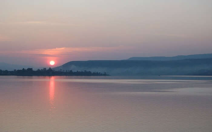 Sunrise above Khadakwasla Lake