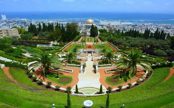 The Hanging Gardens of Haifa in Israel