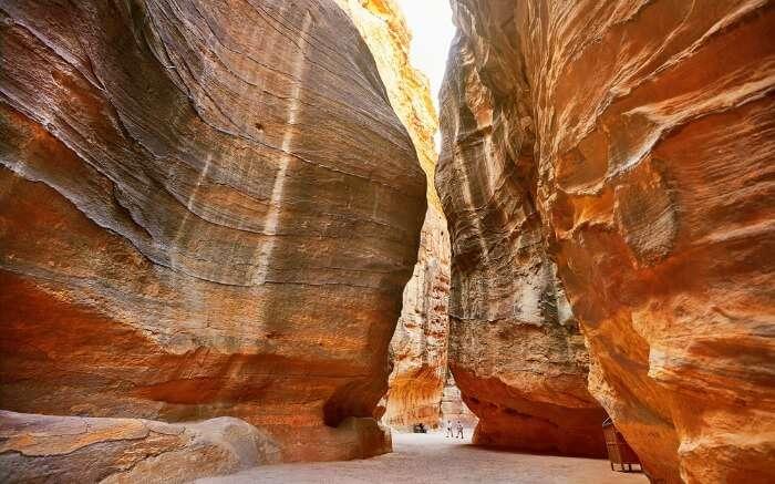 The Siq in Petra