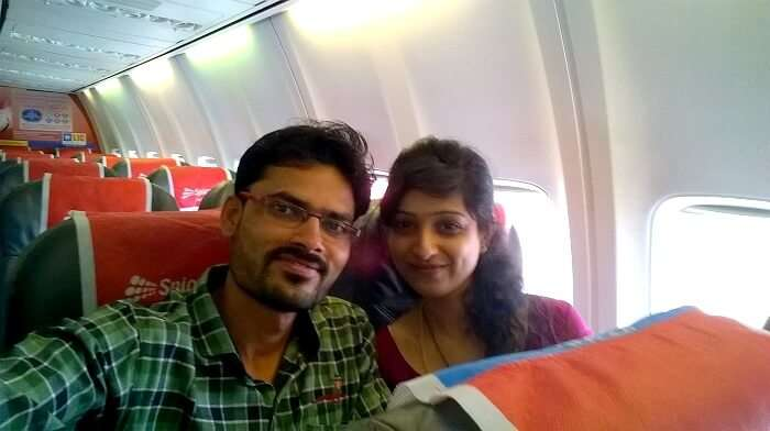 Flying from pune to goa