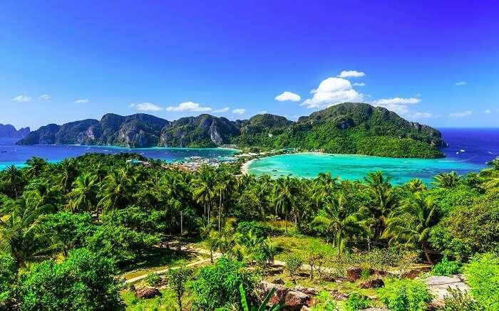 a beautiful view of Krabi beaches