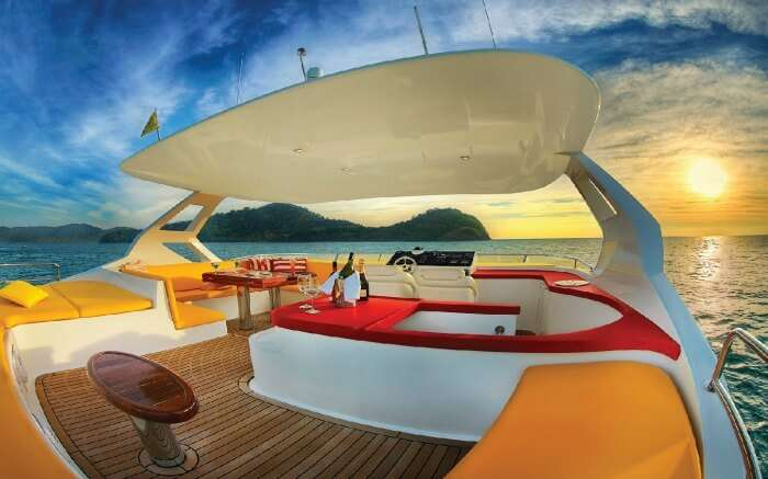 a luxurious sunset cruise in Langkawi