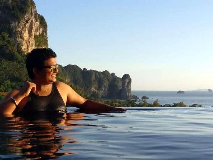 nilesh at the pool in krabi