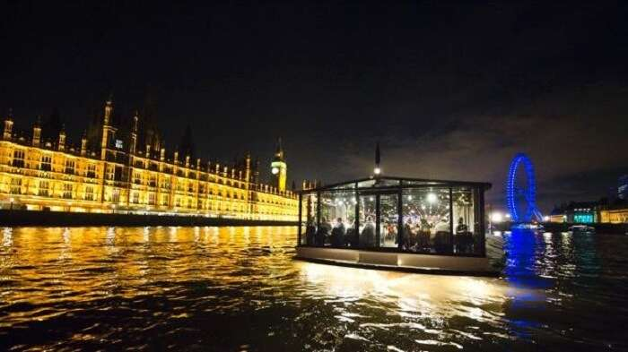 cruise on river thames