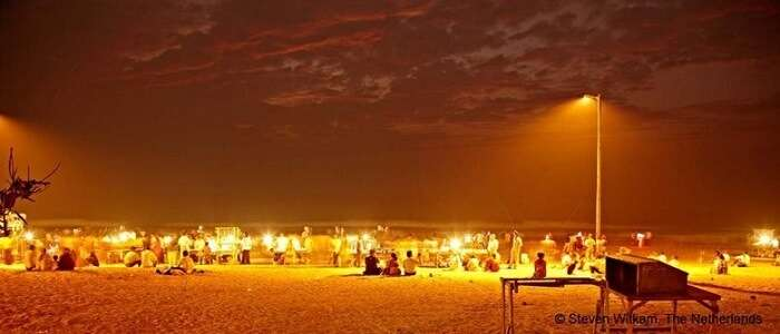 juhu chowpatty during night