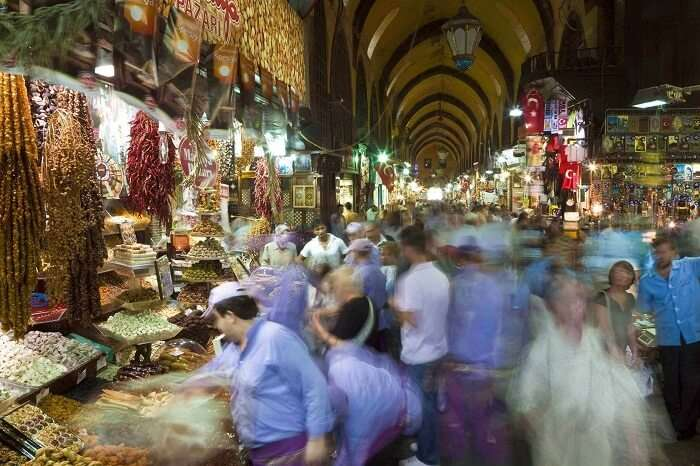 A time lapse shot of the Ramadan night market in Dubai