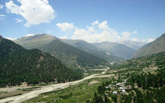 mountains of Sangla in Himachal