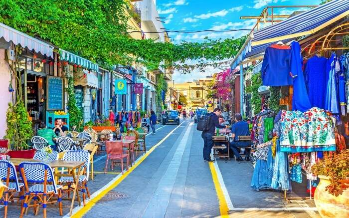 shops and cafes in Old Jaffa in Israel