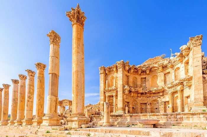 Nymphaeum in the Roman city of Jerash in Jordan