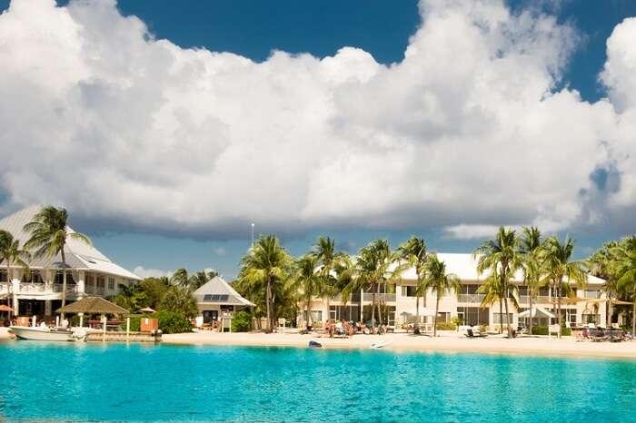 Panoramic view of Kaibo Beach on Grand Cayman island