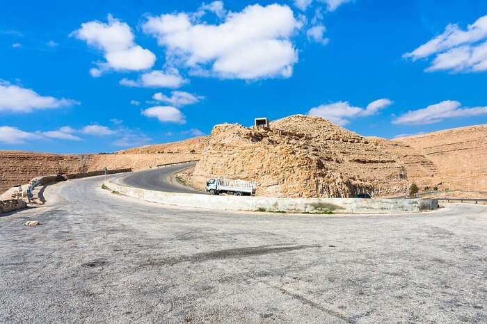 The King Highway in Jordan that offers beautiful views of the country