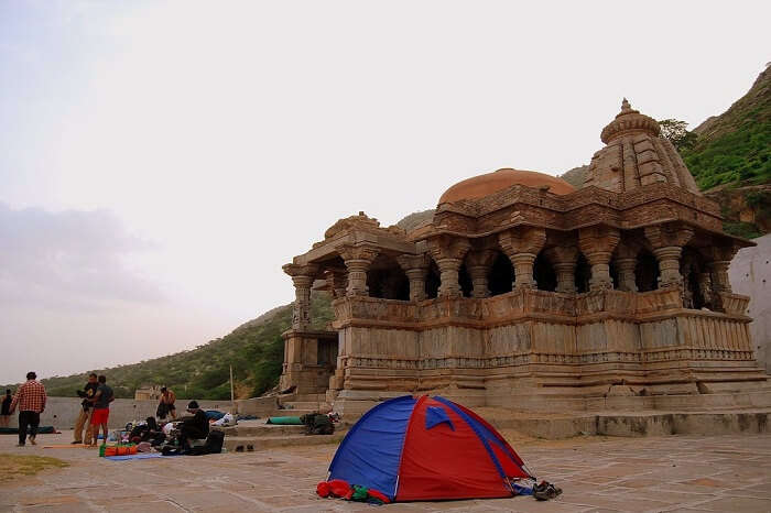 A medieval temple at Bisalpur Lake in Tonk region of Rajasthan