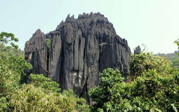 the black of Yana hills