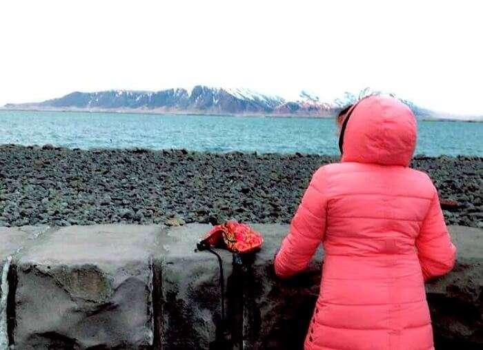 female traveler in Iceland