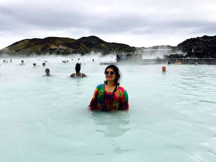 natural hot spring in Iceland