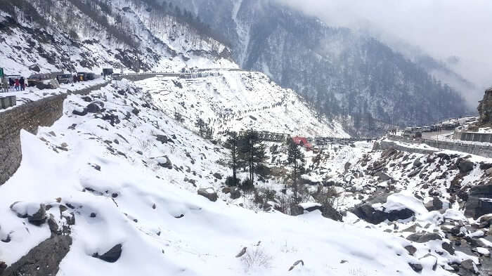 snow in sikkim