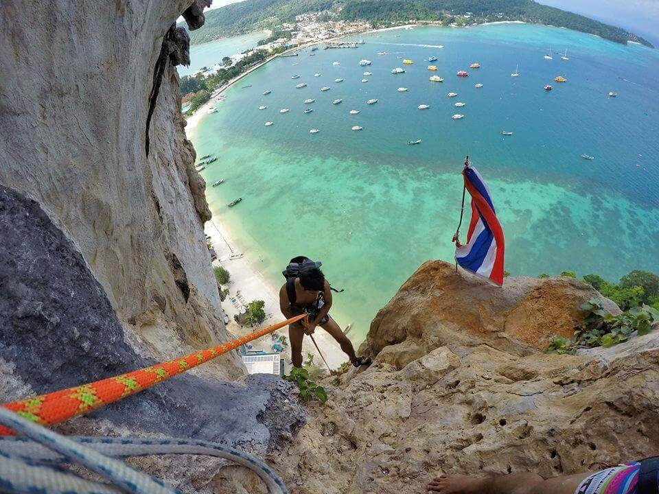 Rock climbing in Phi Phi Island