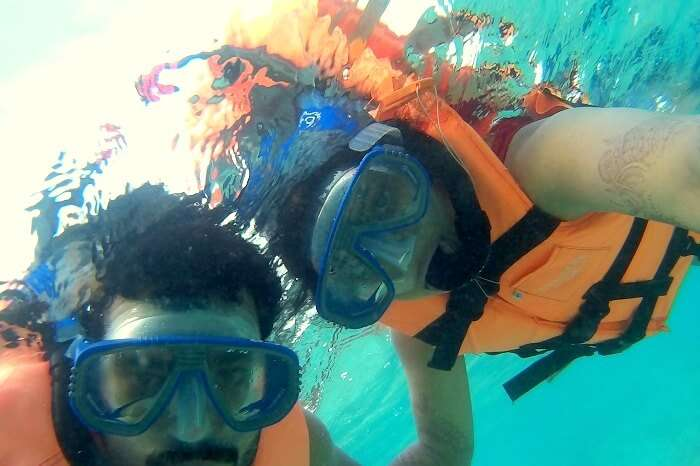 snorkeling at centara ras fushi