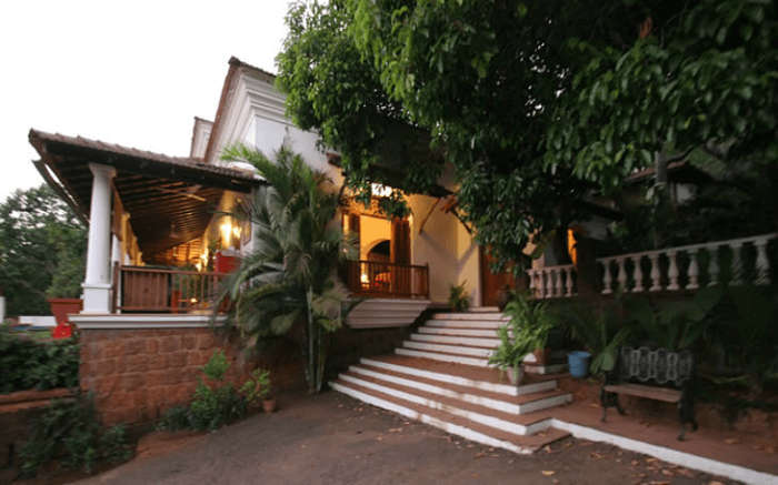 A view of the entrance of the Capella homestay in Goa
