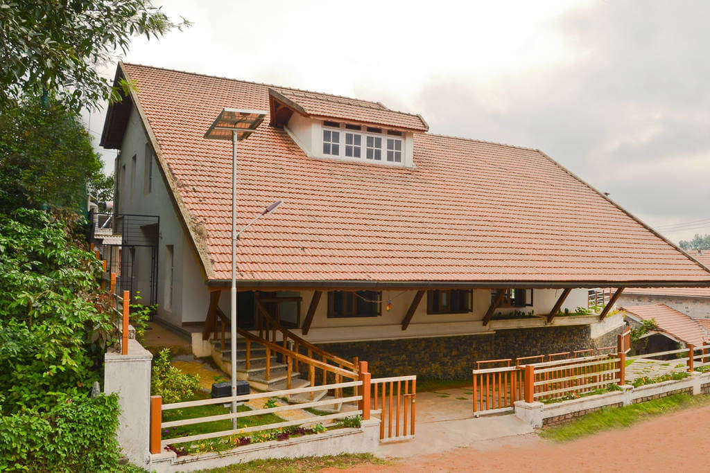 A Kannada style house in the foggy hills of Western Ghats
